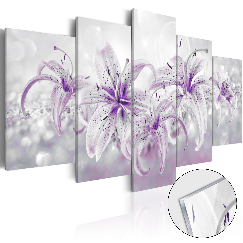 Quadri su vetro acrilico - Purple Graces [Glass] 100X50 cm