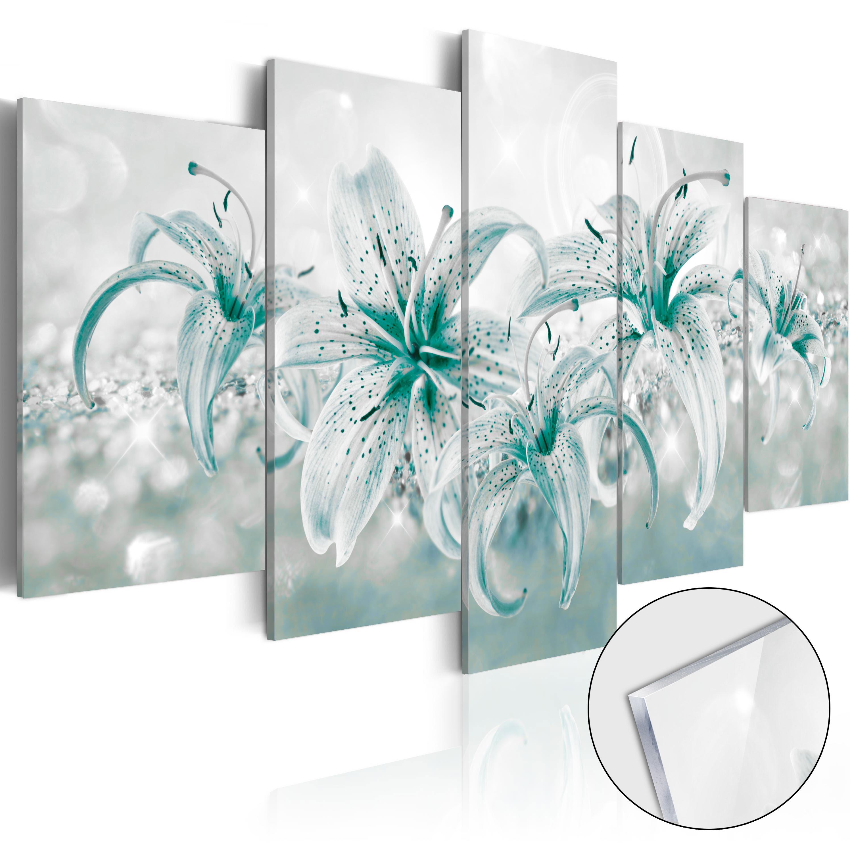 Quadri su vetro acrilico - Sapphire Lilies [Glass] 100X50 cm