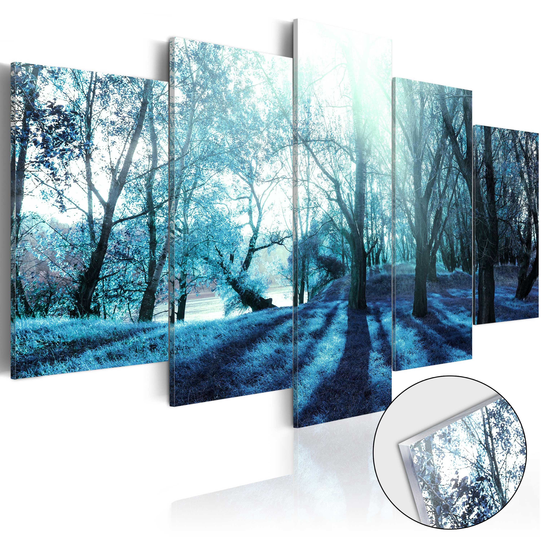 Quadri su vetro acrilico - Blue Glade [Glass] 100X50 cm