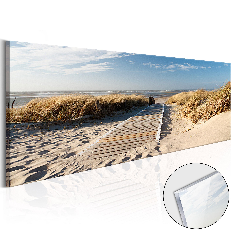 Quadri su vetro acrilico - Wild Beach [Glass] 120X40 cm