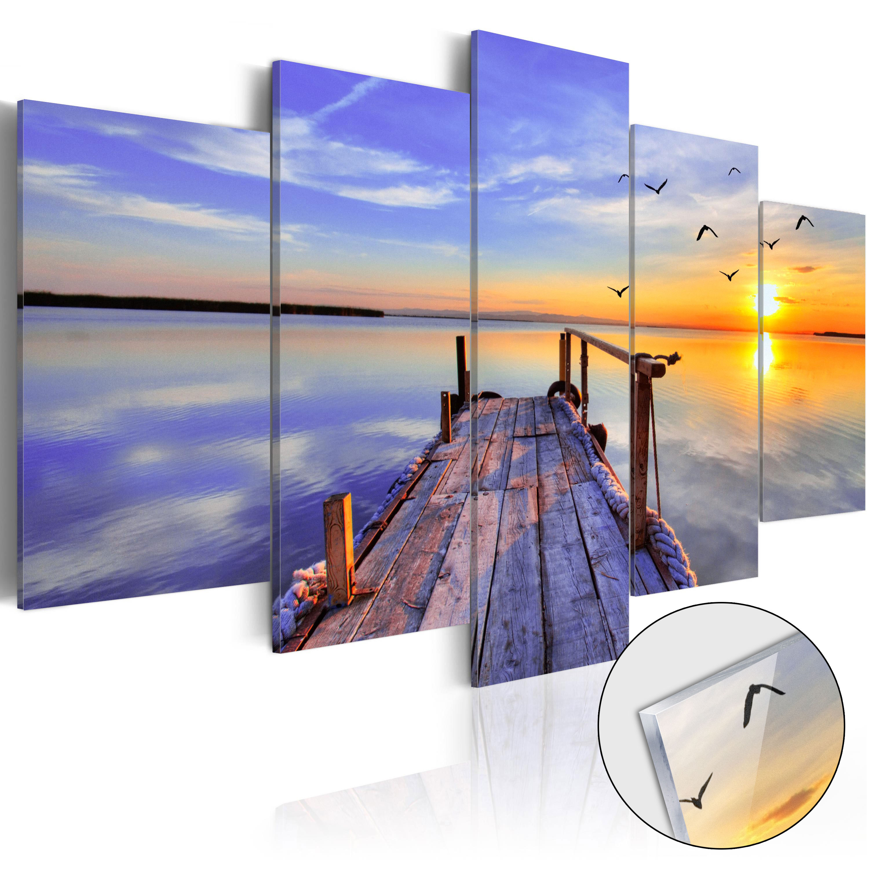 Quadri su vetro acrilico - Summer Harbor [Glass] 100X50 cm