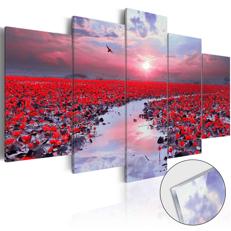 Quadri su vetro acrilico - The River of Love [Glass] 100X50 cm