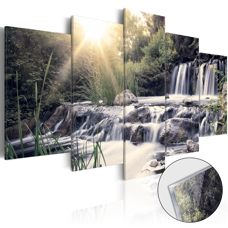 Quadri su vetro acrilico - Waterfall of Dreams [Glass] 100X50 cm