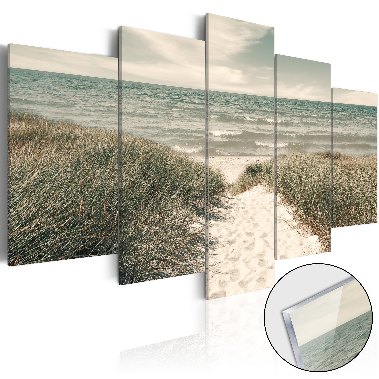 Quadri su vetro acrilico - Quiet Beach [Glass] 100X50 cm
