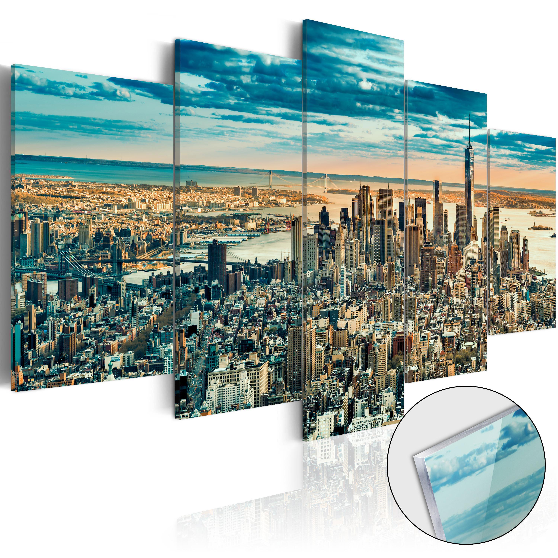 Quadri su vetro acrilico - NY: Dream City [Glass] 100X50 cm