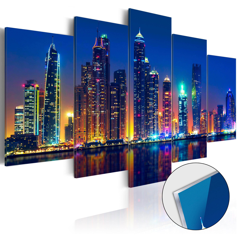 Quadri su vetro acrilico - Nights in Dubai [Glass] 100X50 cm
