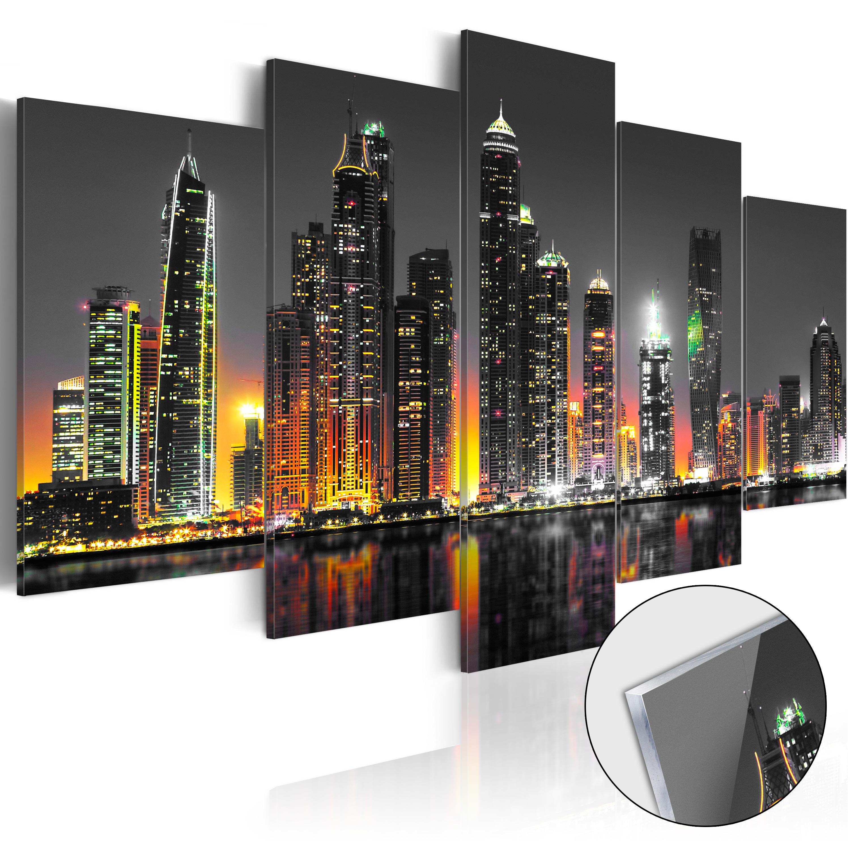 Quadri su vetro acrilico - Desertic City [Glass] 100X50 cm