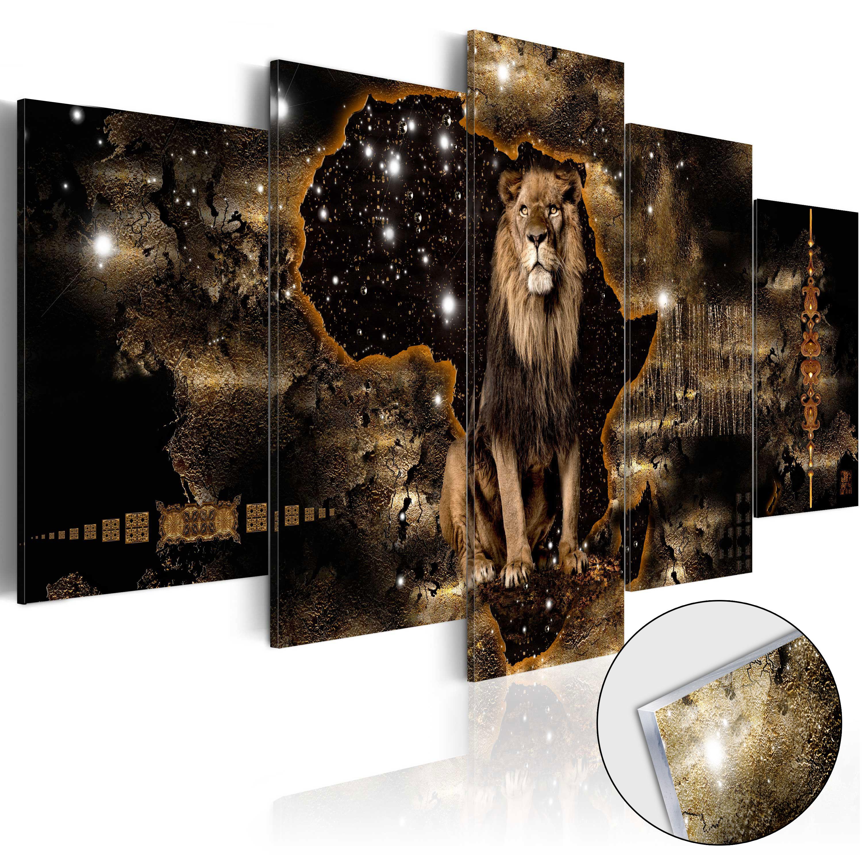 Quadri su vetro acrilico - Golden Lion [Glass] 100X50 cm