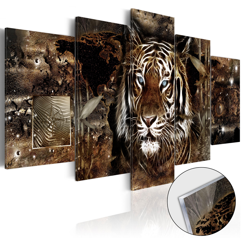 Quadri su vetro acrilico - Guard of the Jungle [Glass] 100X50 cm