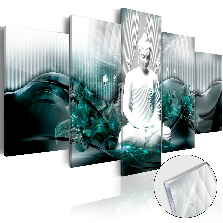 Quadri su vetro acrilico - Azure Meditation [Glass] 200X100 cm
