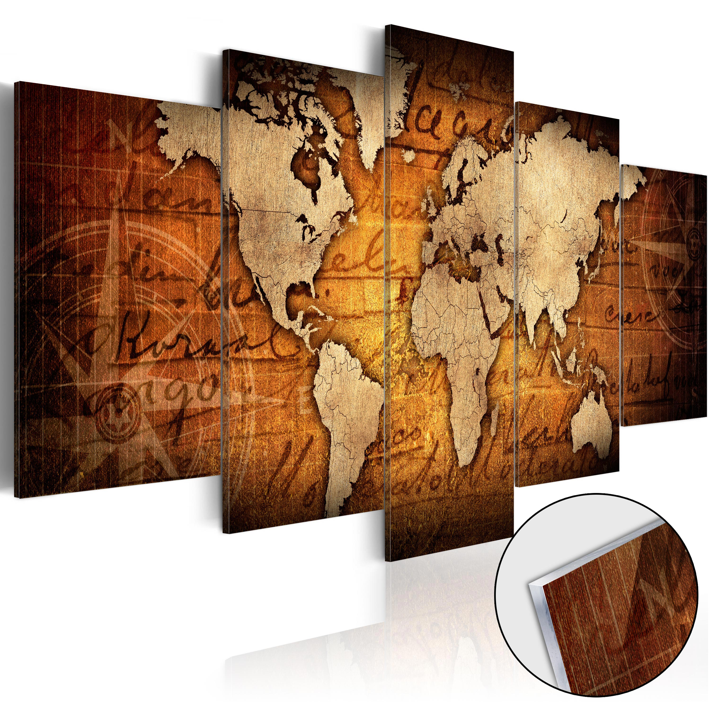 Quadri su vetro acrilico - Acrylic prints – Bronze map I 200X100 cm