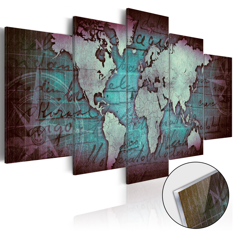 Quadri su vetro acrilico - Acrylic prints – Bronze map II 200X100 cm