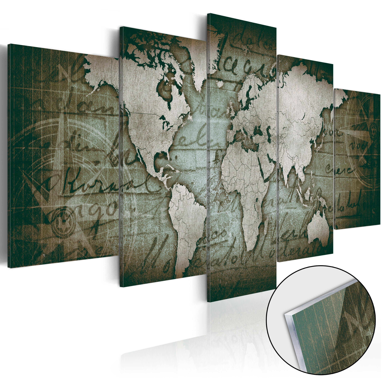 Quadri su vetro acrilico - Acrylic prints – Bronze map III 200X100 cm