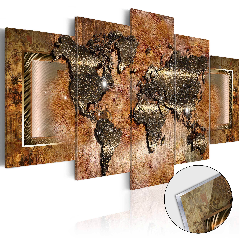 Quadri su vetro acrilico - Steel Map [Glass] 200X100 cm