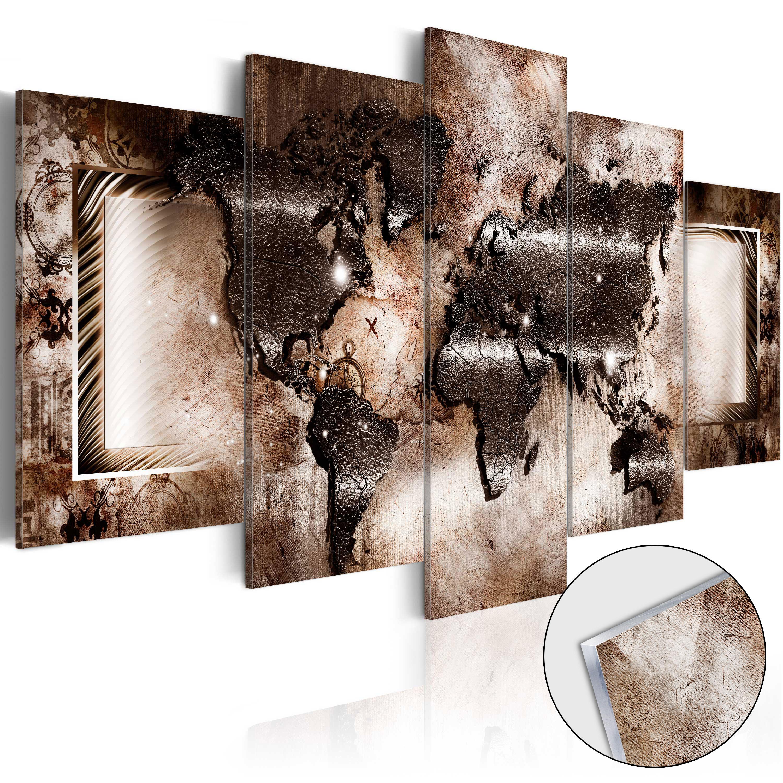 Quadri su vetro acrilico - Platinum Map [Glass] 200X100 cm