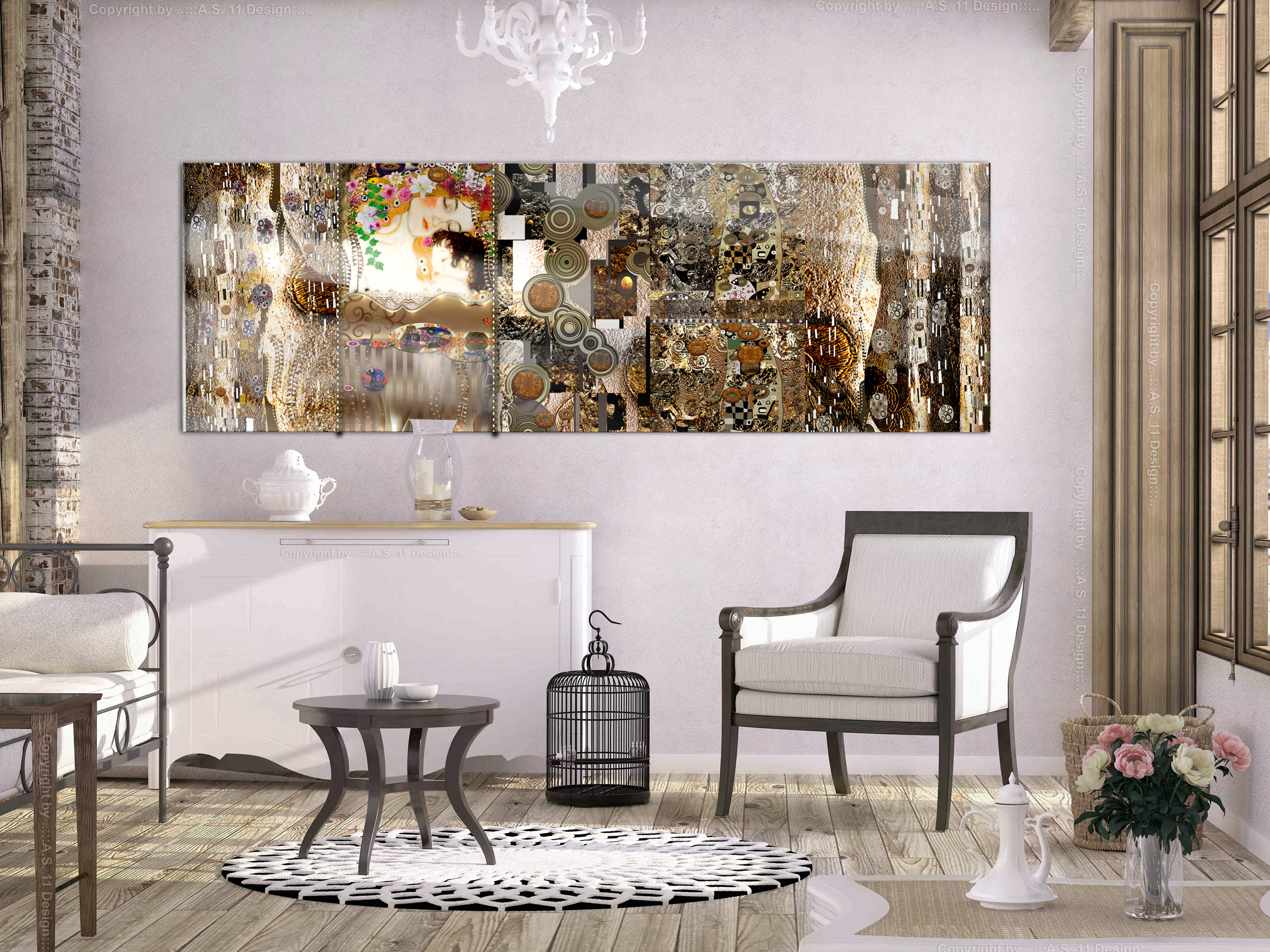 acrylglasbild gustav klimt inspiration moderne wandbilder xxl l a 0012 k b ebay. Black Bedroom Furniture Sets. Home Design Ideas