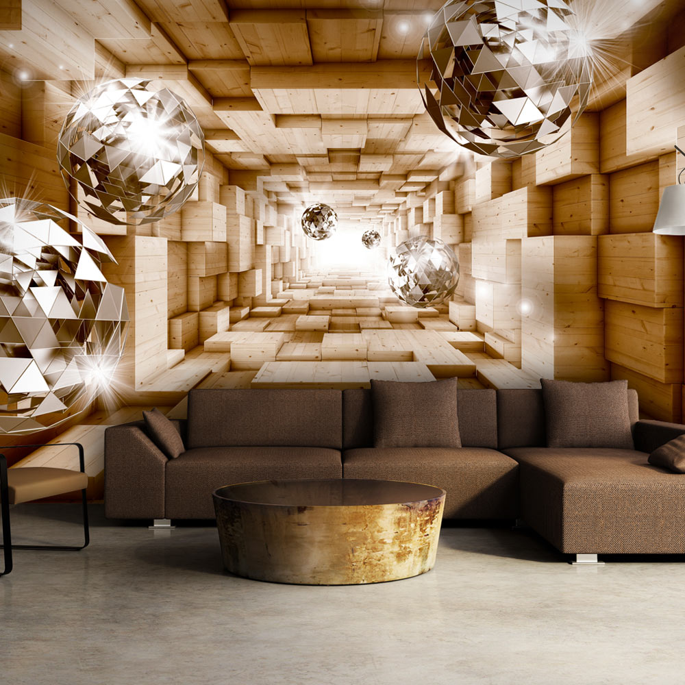 vlies fototapete 3 farben zur auswahl tapeten holz tunnel a a 0155 a b ebay. Black Bedroom Furniture Sets. Home Design Ideas
