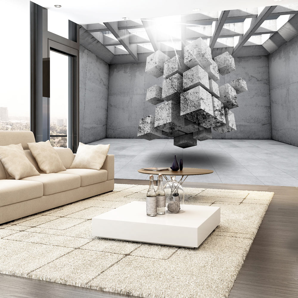 vlies fototapete 3 farben zur auswahl tapeten beton. Black Bedroom Furniture Sets. Home Design Ideas