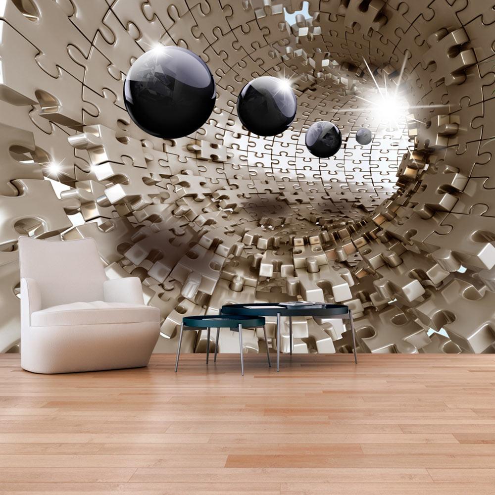 Fotomurale - Golden Jigsaw 300X210 cm