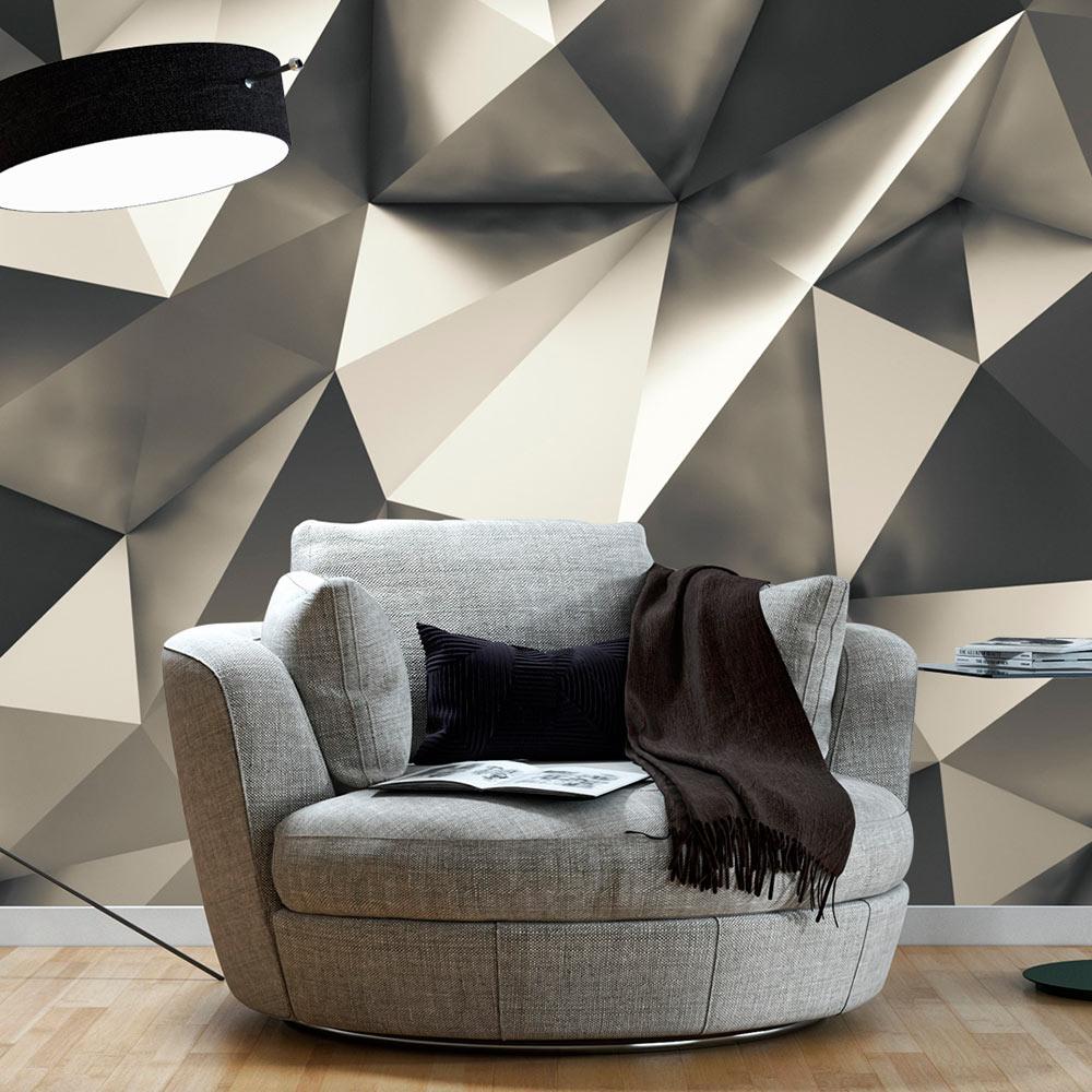 vlies fototapete 3d effekt 3 farben tapeten 3d optik abstrakt a b 0016 a b ebay. Black Bedroom Furniture Sets. Home Design Ideas