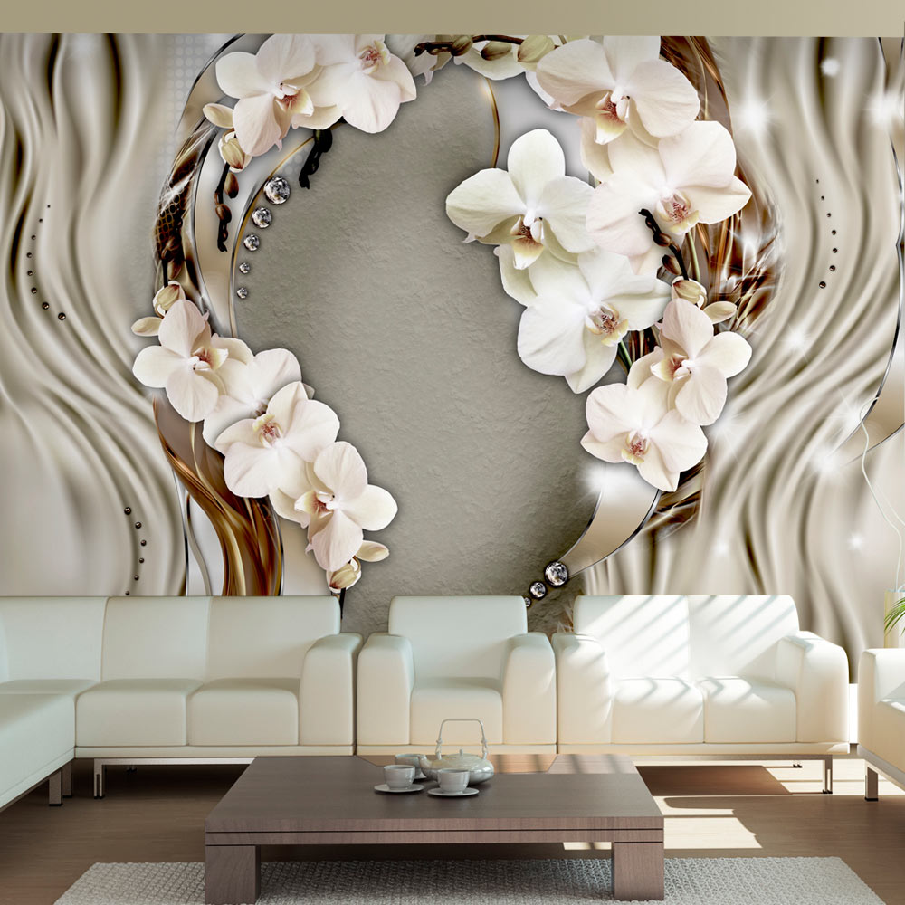 vlies fototapete 3 farben zur auswahl tapeten orchidee b a 0025 a b ebay. Black Bedroom Furniture Sets. Home Design Ideas