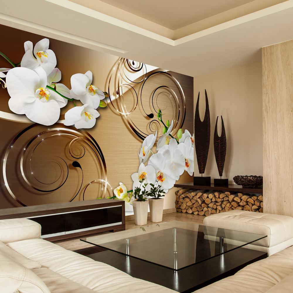 vlies fototapete 3 farben zur auswahl tapeten blumen orchidee b a 0065 a b ebay. Black Bedroom Furniture Sets. Home Design Ideas