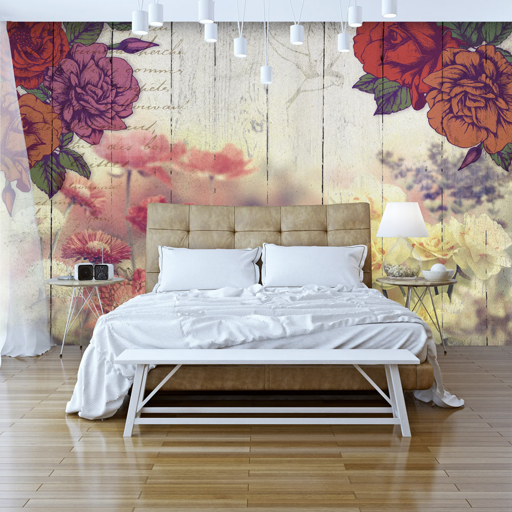 Fotomurale - Vintage Flowers 300X210 cm