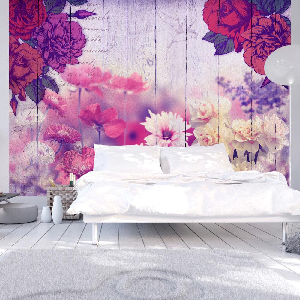 vlies fototapete 3 farben zur auswahl tapeten blumen vintage b c 0028 a b ebay. Black Bedroom Furniture Sets. Home Design Ideas