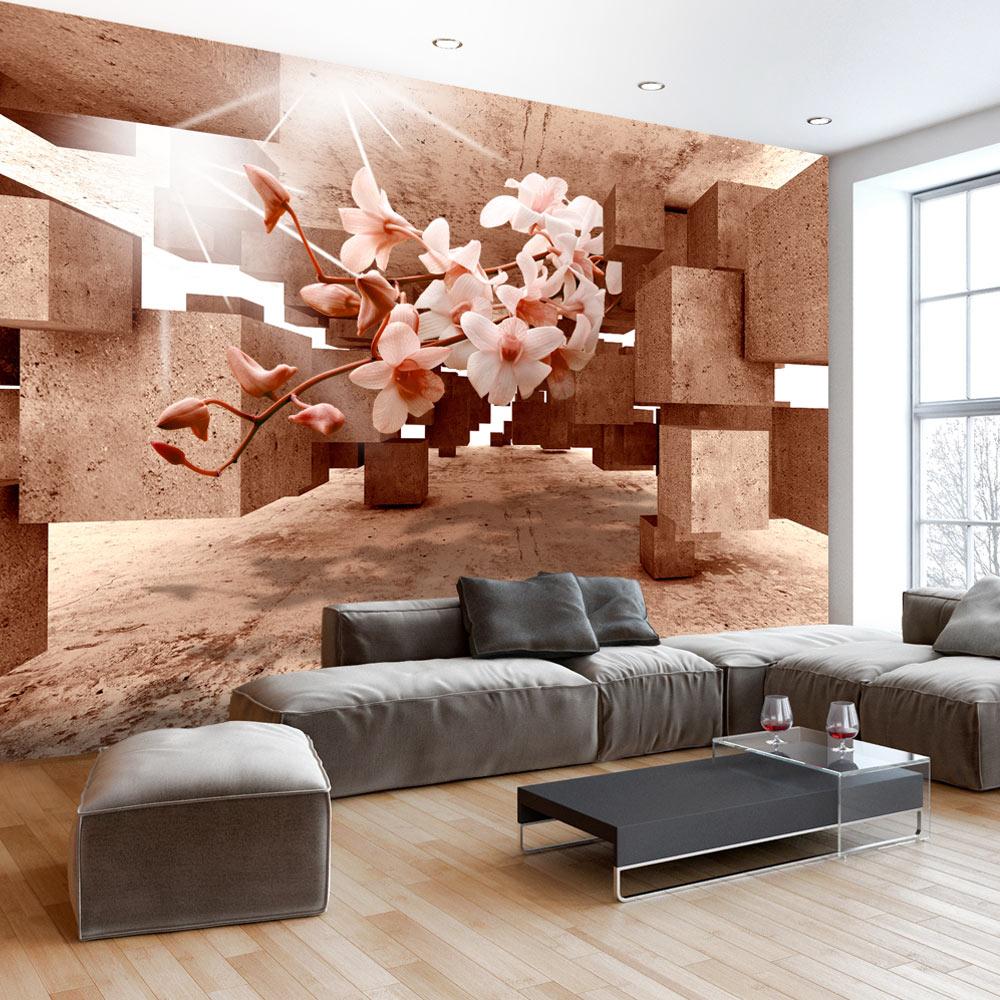 Wall Mural Photo Wallpaper Xxl Flowers Orchids Texture: FOTOTAPETE 3D OPTIK VLIES TAPETE BLUMEN WANDBILD ORCHIDEE