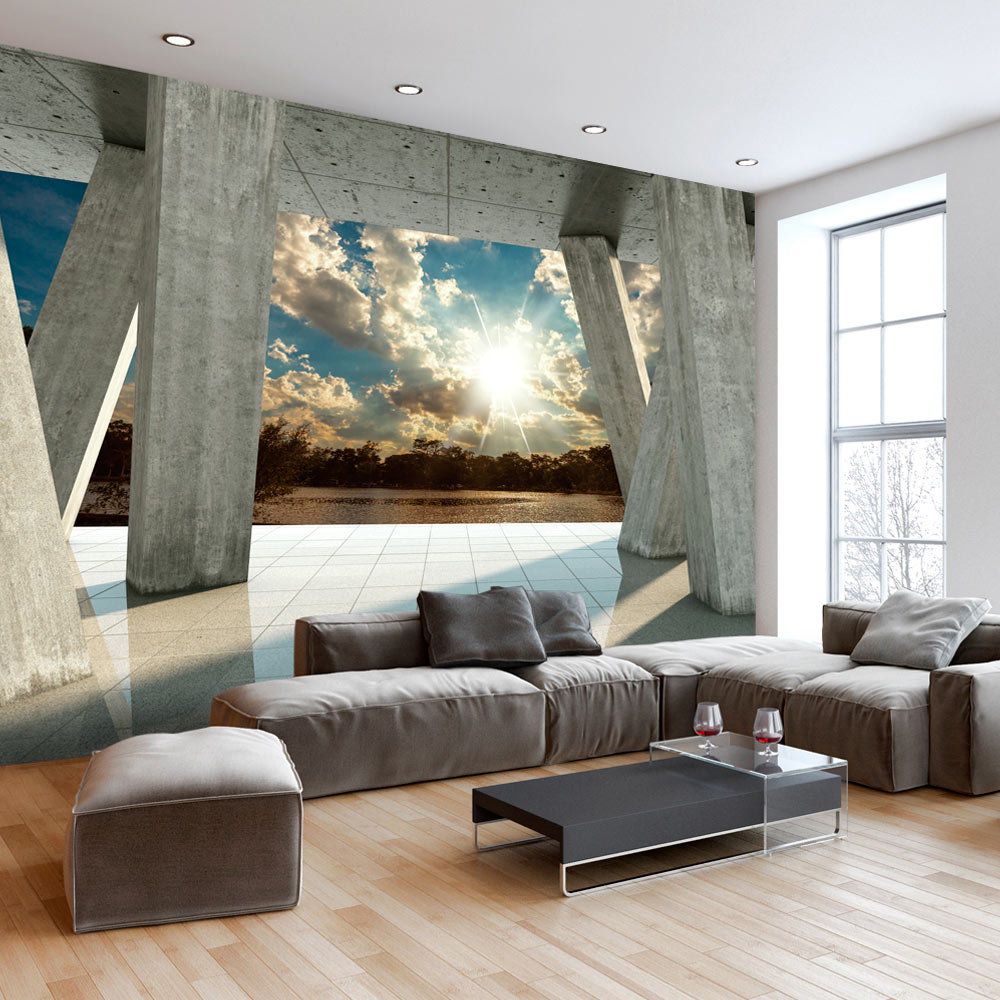 vlies fototapete 3d effekt himmel ausblick 3 farben tapete c b 0079 a b ebay. Black Bedroom Furniture Sets. Home Design Ideas