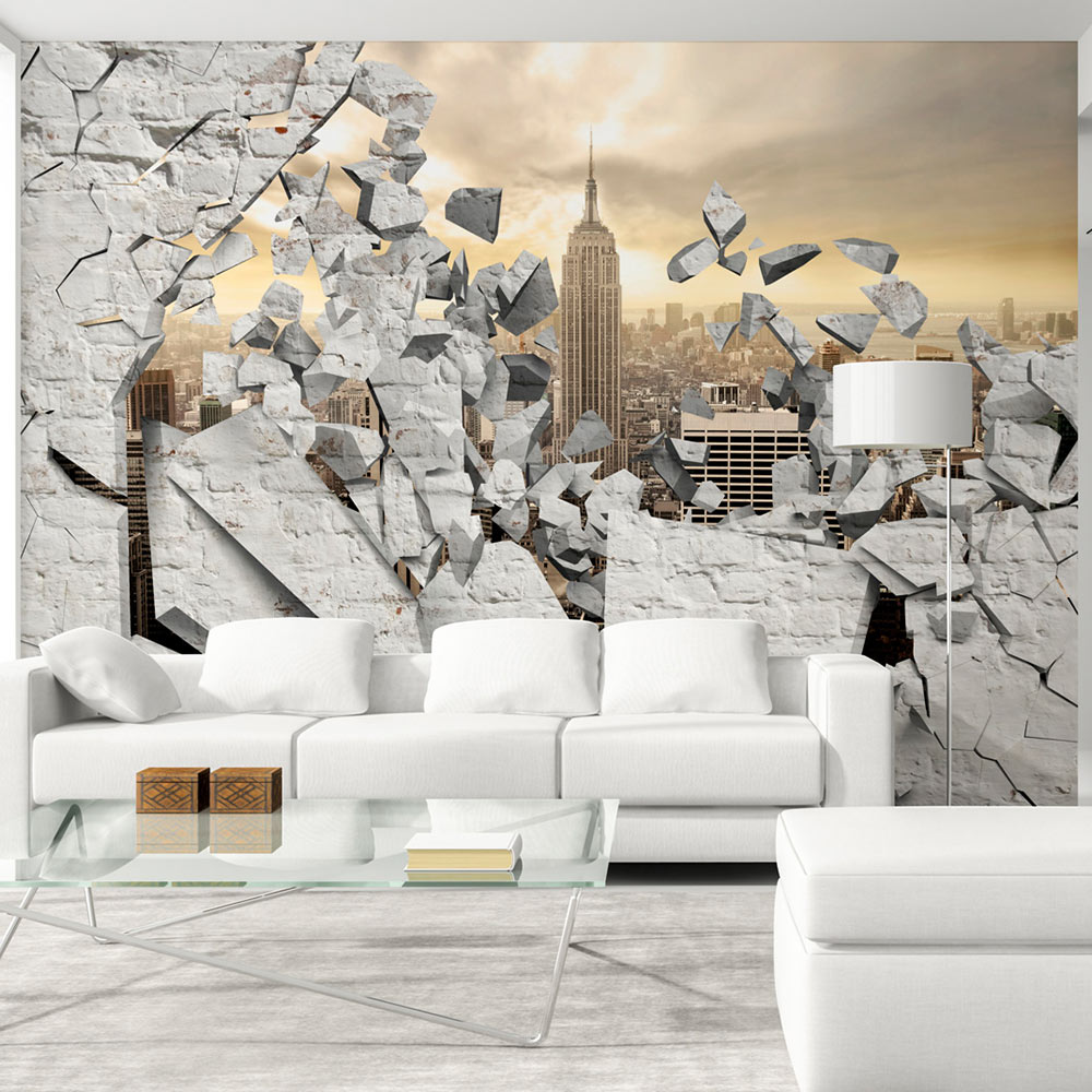 Fotomurale - NY - City behind the Wall 300X210 cm