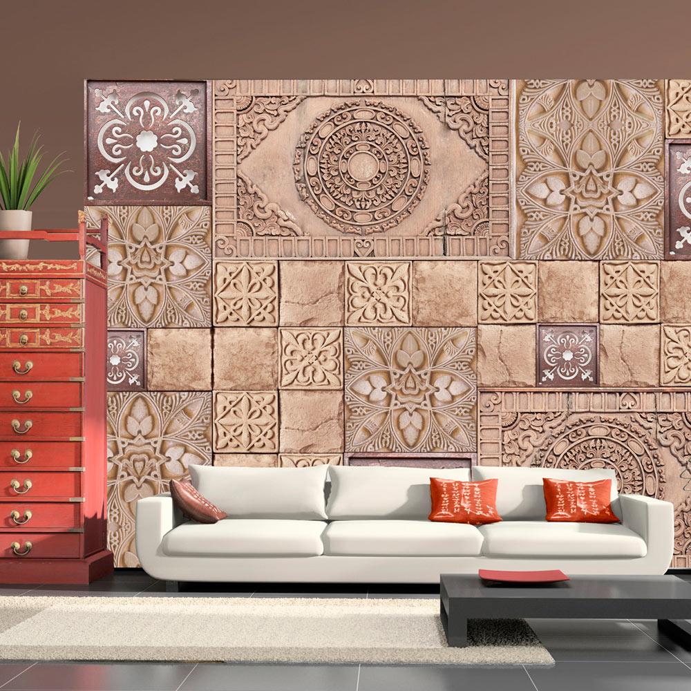 Vlies fototapete 3 farben zur auswahl tapeten ornament for Tapeten auswahl