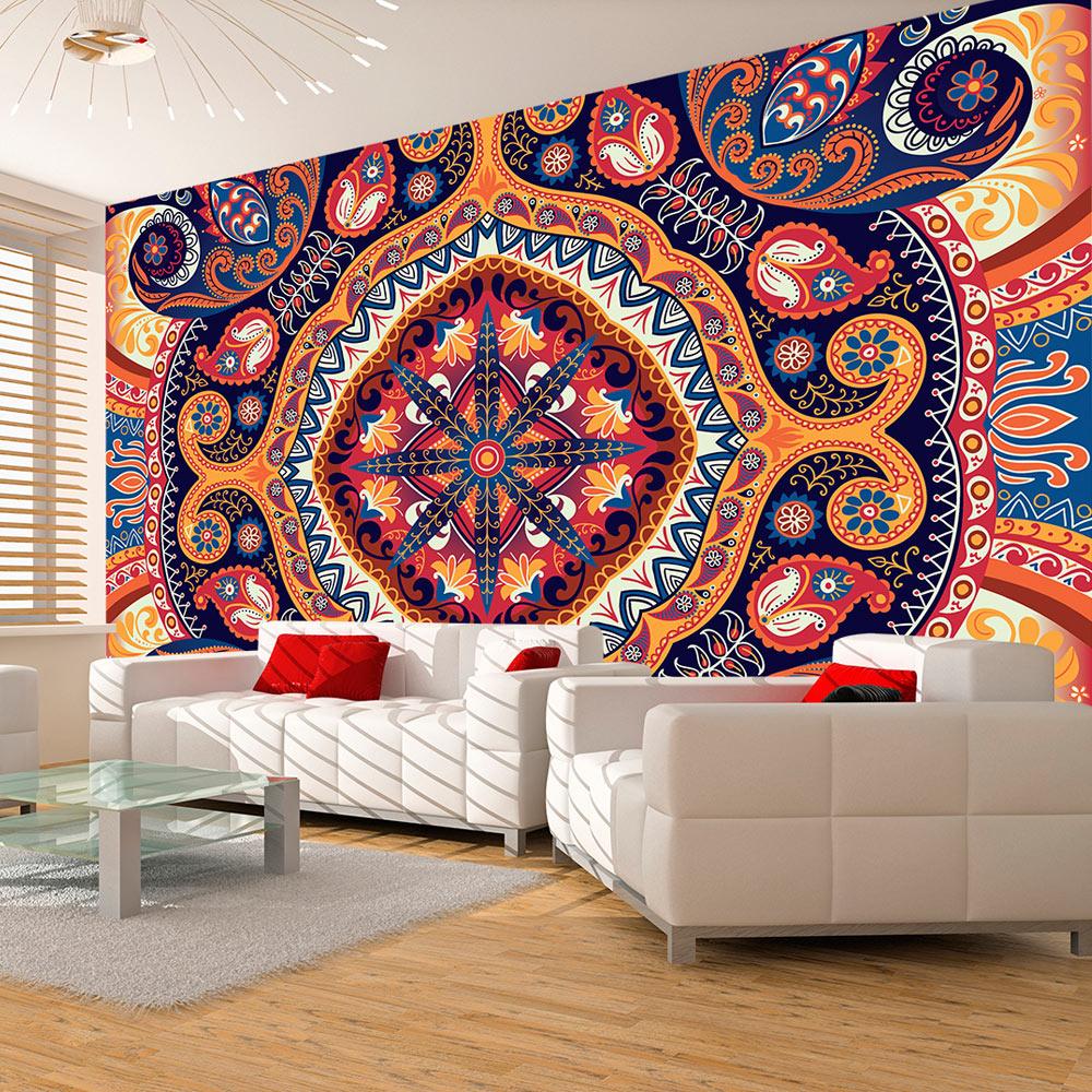 vlies fototapete 3 farben zur auswahl tapeten orient mandala f a 0096 a b ebay. Black Bedroom Furniture Sets. Home Design Ideas