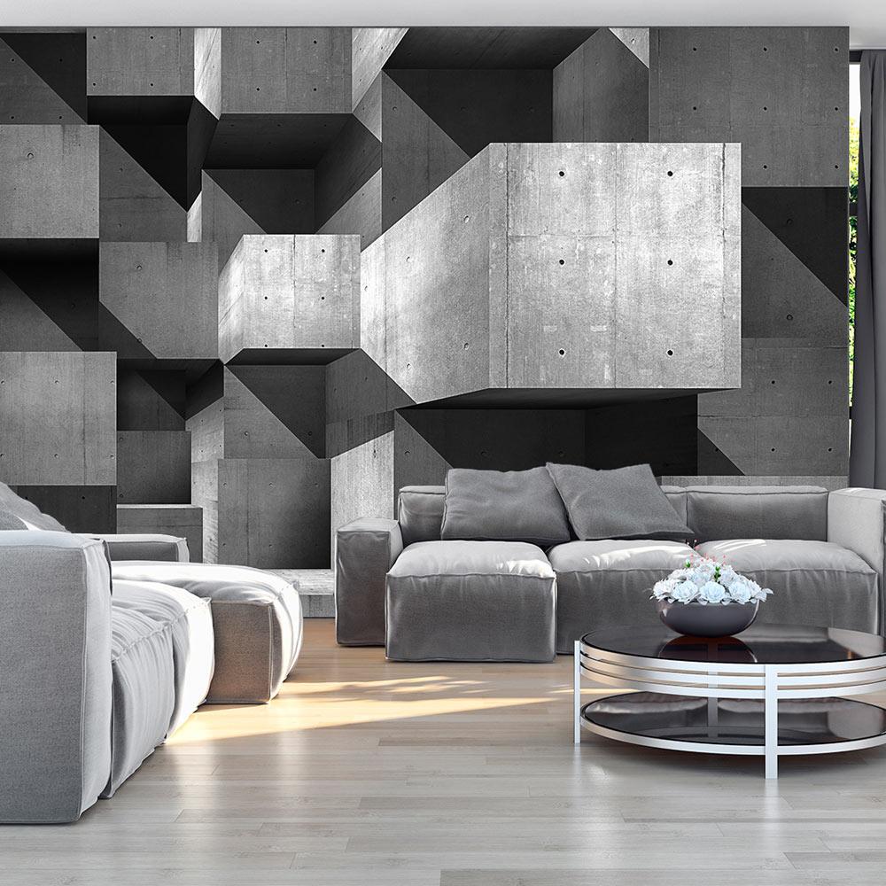 Fototapete 3 D vlies fototapete 3 farben zur auswahl tapeten beton 3d grau f a