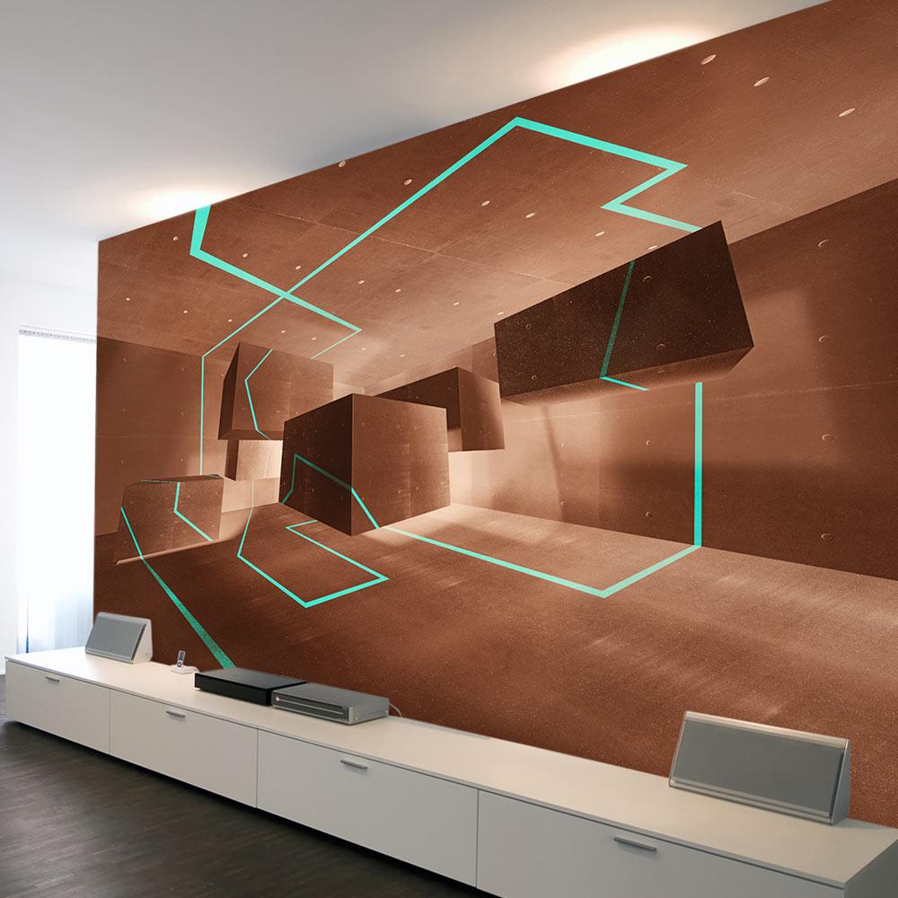 Vlies fototapete 3 farben zur auswahl tapeten beton 3d for Tapeten suchen