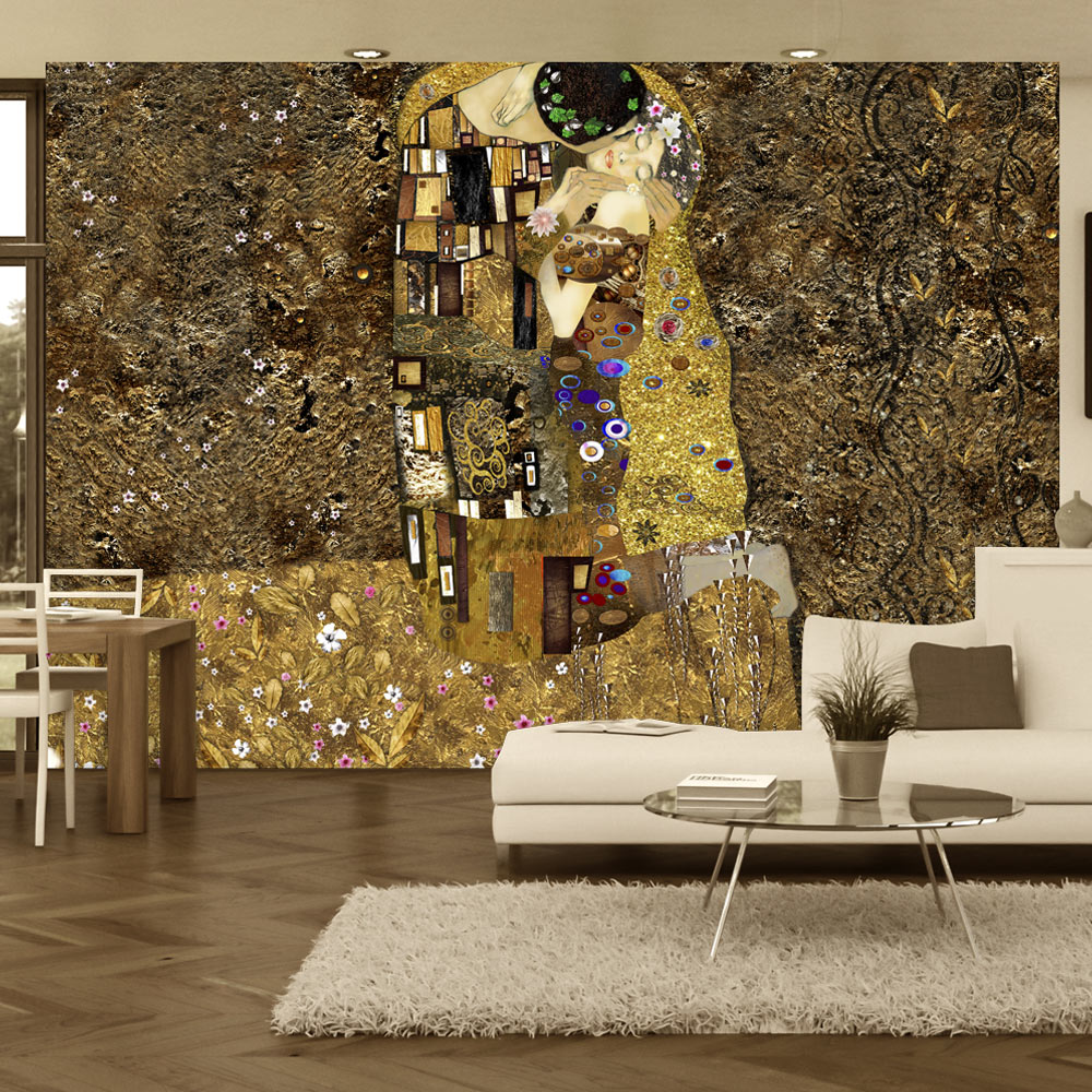 Fotomurale - Klimt inspiration - Golden Kiss 300X210 cm