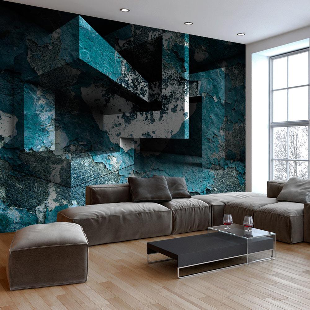 fototapete 3d optik rost labirynth vlies tapete wandbilder 3 farben a a 0277 a b ebay. Black Bedroom Furniture Sets. Home Design Ideas
