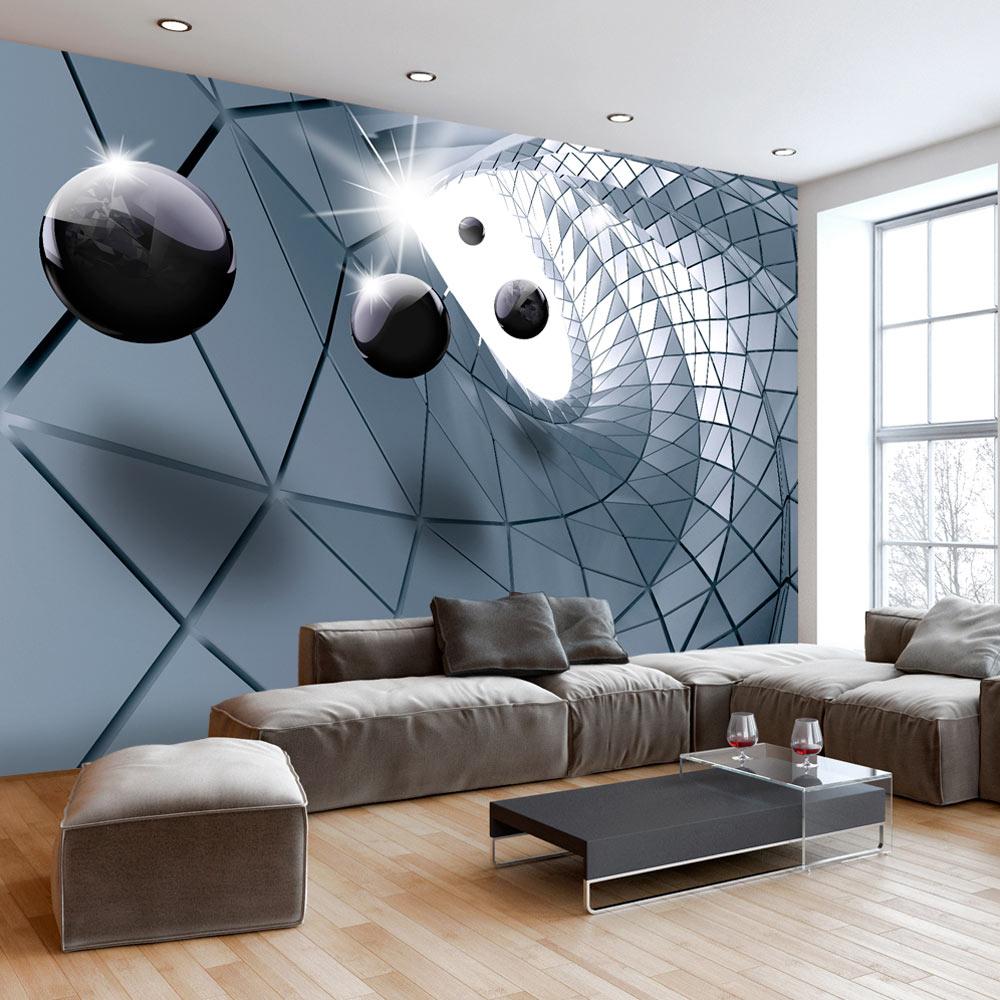 vlies fototapete 3 farben zur auswahl tapeten kugel 3d. Black Bedroom Furniture Sets. Home Design Ideas