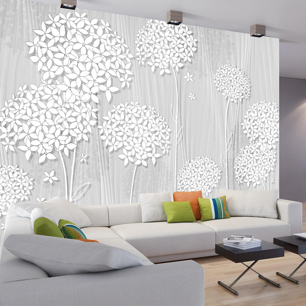 fototapete blumen holzoptik wei creme vlies tapete xxl wandbilder b c 0008 a b ebay. Black Bedroom Furniture Sets. Home Design Ideas