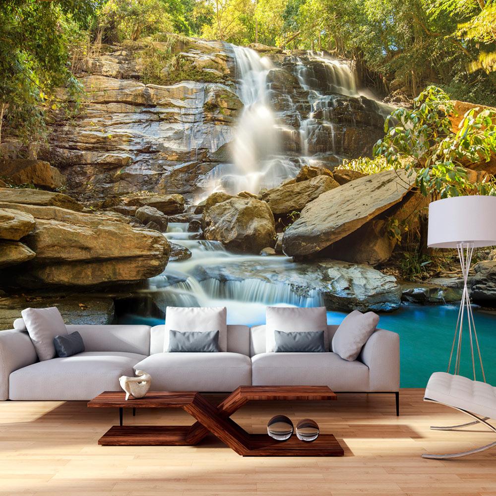 vlies fototapete 3 farben zur auswahl tapeten wasserfall natur c b 0141 a b ebay. Black Bedroom Furniture Sets. Home Design Ideas