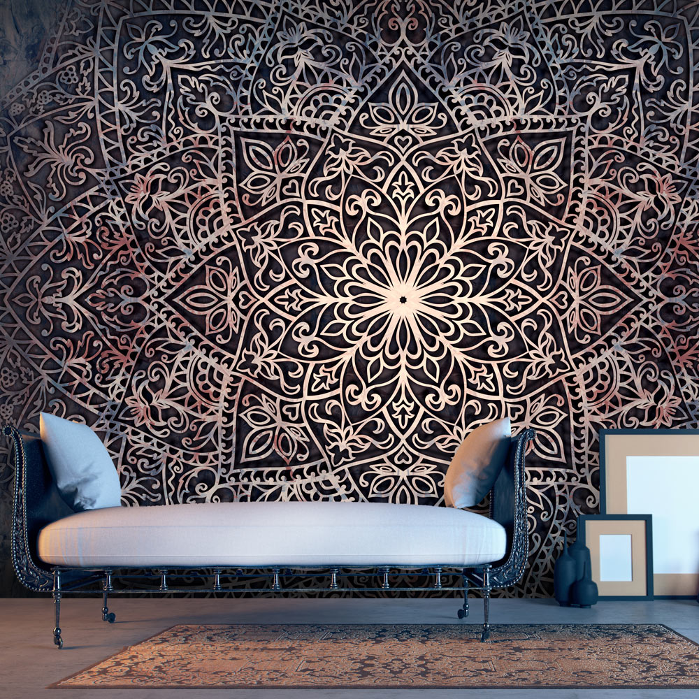 fototapete mandala ornament orient vlies tapete wandtapete 3 farben f c 0131 a b ebay. Black Bedroom Furniture Sets. Home Design Ideas