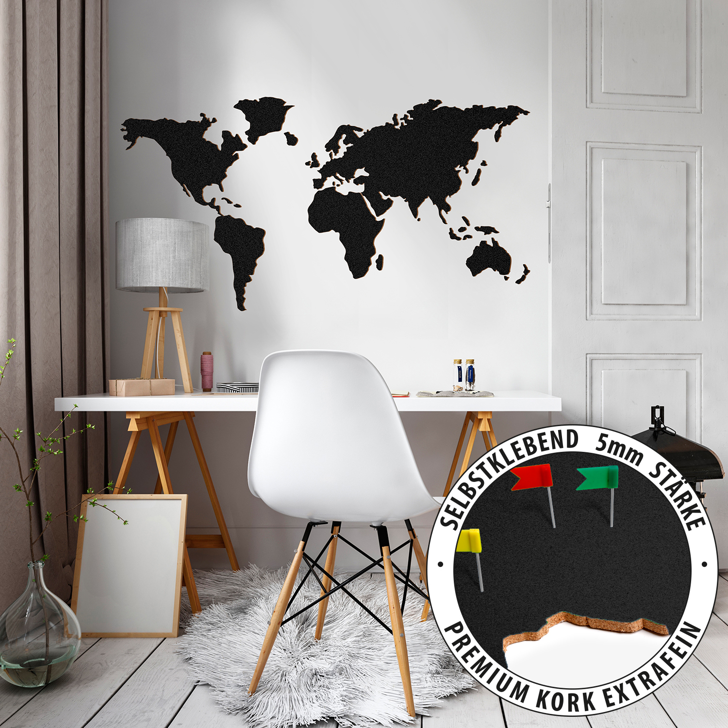 World map self adhesive cork board something multistick cork world map self adhesive cork board something multistick gumiabroncs Images