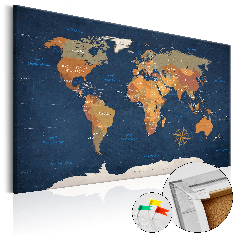 pinnwand weltkarte Kork Pinnwand Weltkarte Wandbilder Landkarte Leinwand Bilder xxl  pinnwand weltkarte