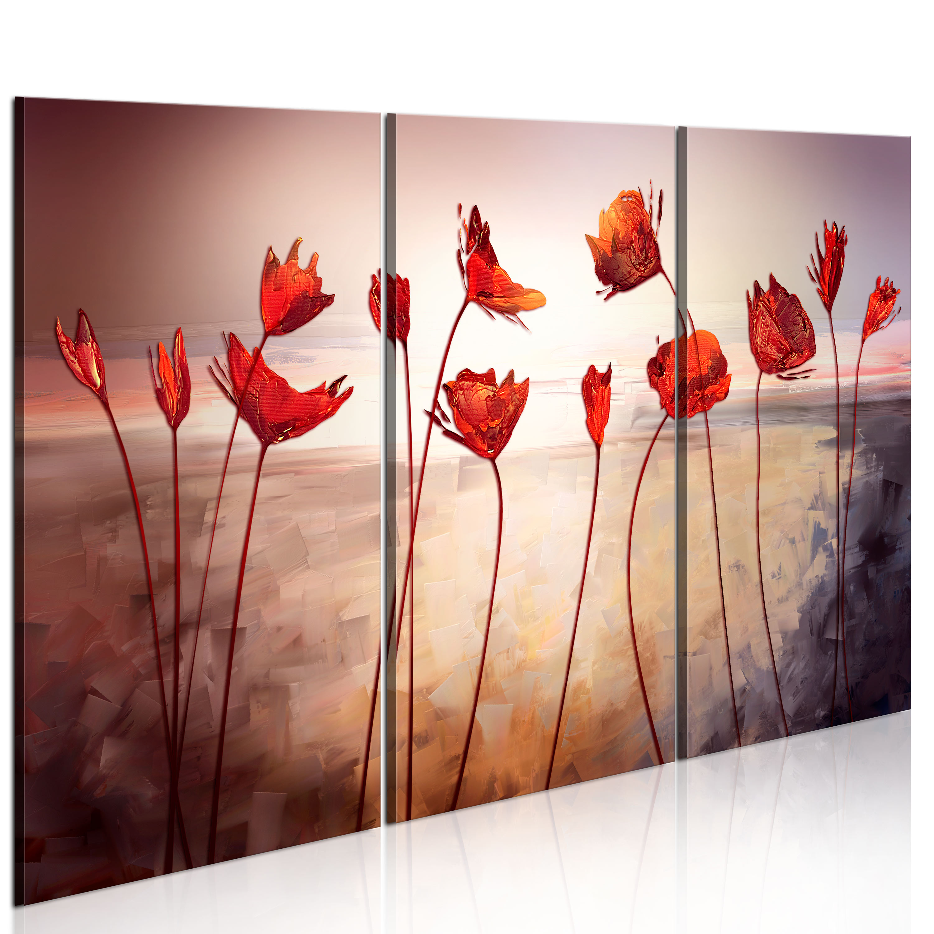Tableau - Bright red poppies