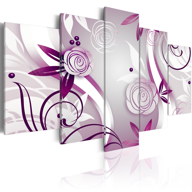 Tableau - Roses violettes