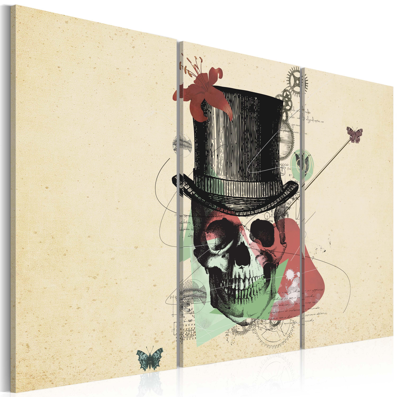 Quadro - Gentleman's skeleton 60X40 cm