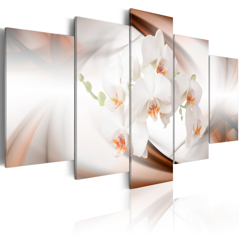 Tableau - Orchidée blanche dans l'abstraction