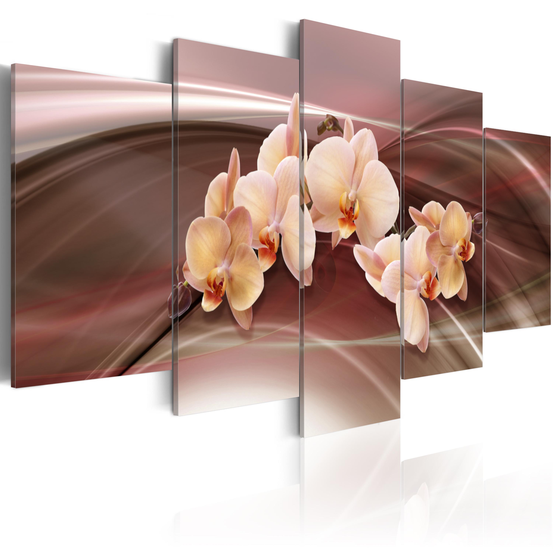 Tableau - Orchidées sur le fond raffiné