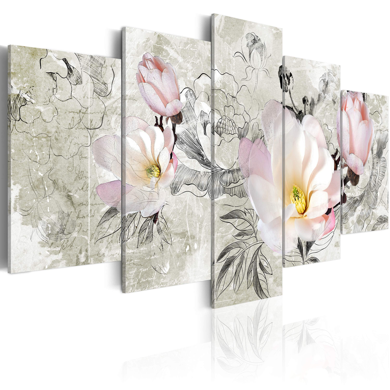 Tableau - magnolia - rétro