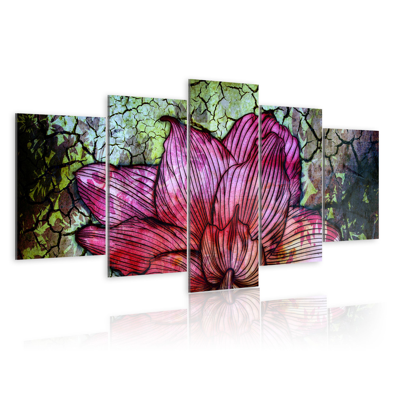 Tableau - Vitrail fleuri